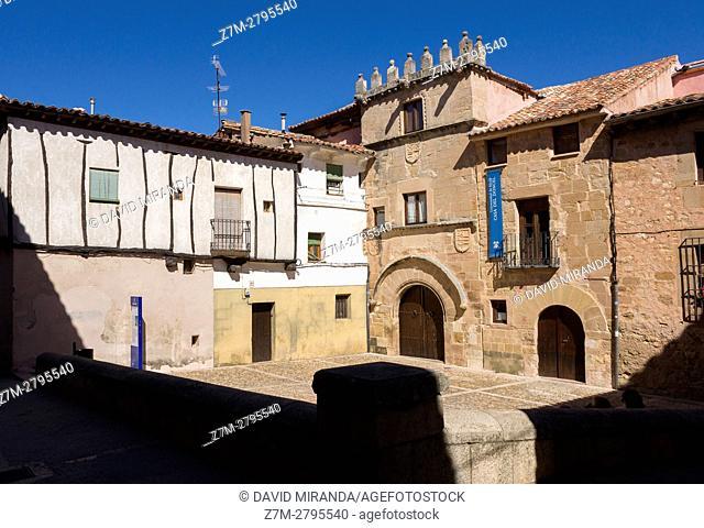 Casa del Doncel House, Sigüenza, Guadalajara province, Castile La Mancha, Spain. Historical Heritage Site