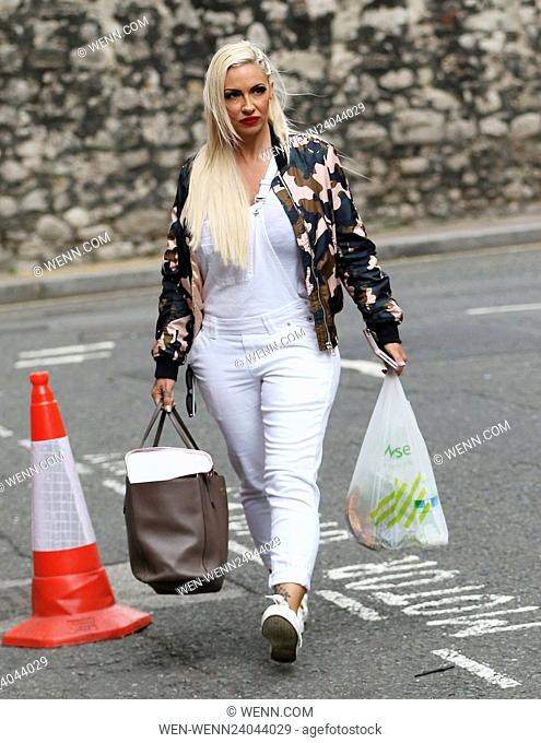 Jodie Marsh heading home after attending a protest against puppy farming Featuring: Jodie Marsh Where: London, United Kingdom When: 24 May 2016 Credit: WENN