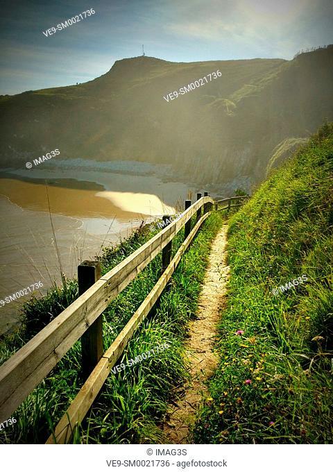 Vidiago beach and cliffs. Llanes municipality. Asturias, Spain