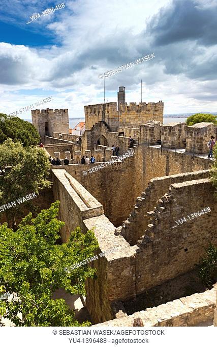 The Castle of São Jorge Portuguese: Castelo de São Jorge is a moorish castle that occupies a commanding position overlooking the city of Lisbon