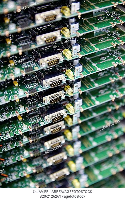 Integrated circuit board. Plant manufacturing of electronic equipment