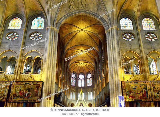 Notre Dame Cathedral Catholic Church Paris France Europe FR