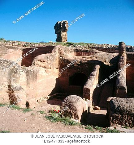 Housing. Celtiberian Archaeological Site. Tiermes. Sierra de Ayllon. Soria province. Castilla-La Mancha. Spain