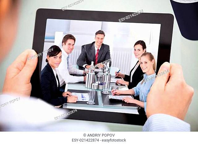 Businessperson With Digital Tablet