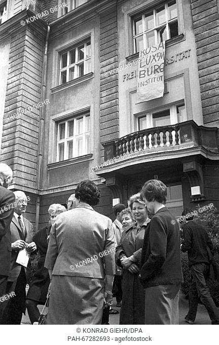 Students of the FU Berlin occuped the German Seminar to protest against the Emergency Law on 27 May 1968. - Berlin/Germany
