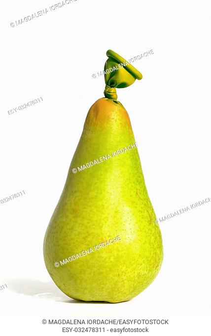 Abstract pear fruit from balloons