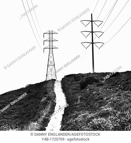 Power Lines and Towers, Tecolote Canyon, San Diego, California