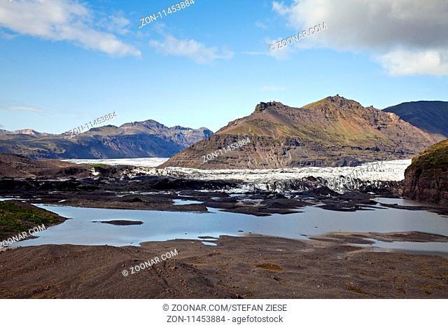 Svinafellsjoekull im Vatnajoekull-Nationalpark, Hornarfjoerdur, Ostisland, Island, Europa