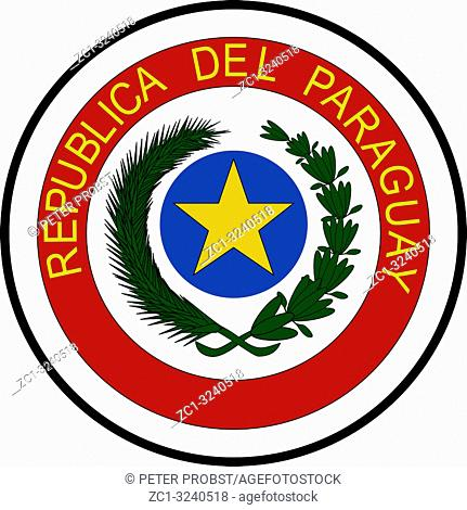 National coat of arms of the Republic of Paraguay.