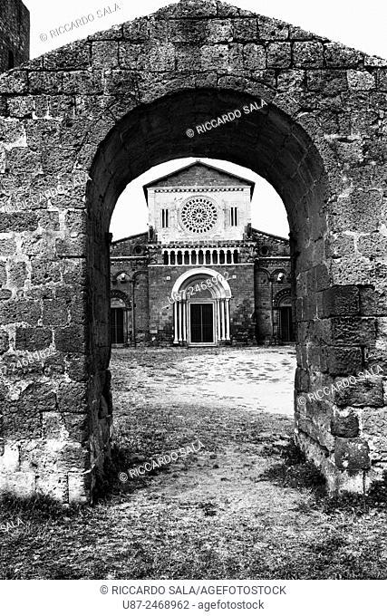 Italy, Lazio, Tuscania, Romanesque Basilica of San Pietro Maggiore