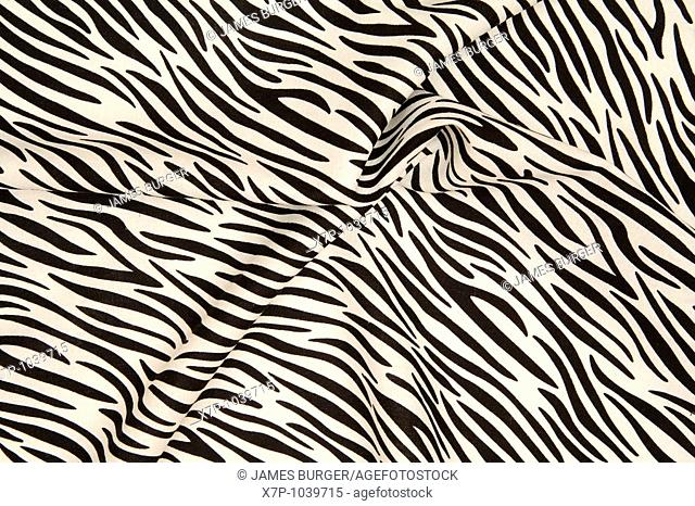 Zebra striped fabric