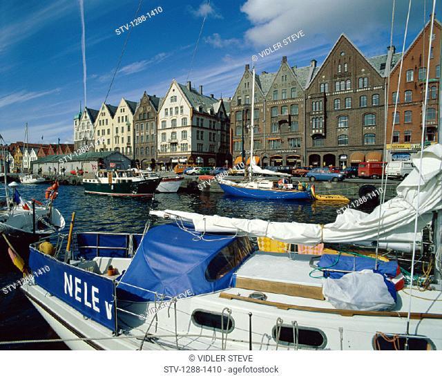 Bergen, Boats, Bryggen, Harbor, Holiday, Landmark, Norway, Europe, Scandinavia, Tourism, Travel, Vacation