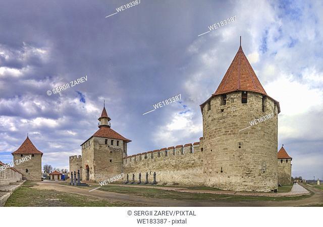 Bender, Moldova - 03. 10. 2019. Old historic Fortress in Bender city, Transnistria, Moldova