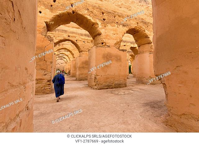 North Africa, Morocco, Meknes district. Granary of Meknes