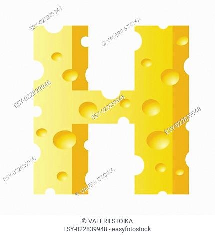 cheese letter H