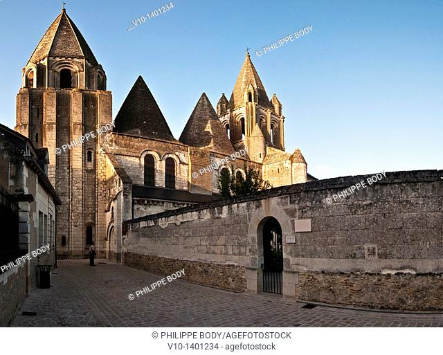 France, Indre et Loire, Loches, the Saint-Ours abbey