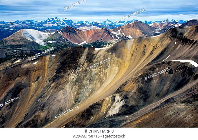 Aerial photography over the Chilcotin region of British Columbia Canada