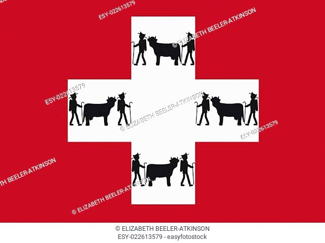 Swiss Flag with Appenzeller