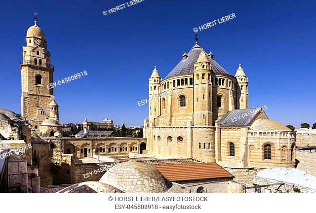 Dormition Abbey, Byzantine Church, Mount Zion, Jerusalem, Israel, Middle East