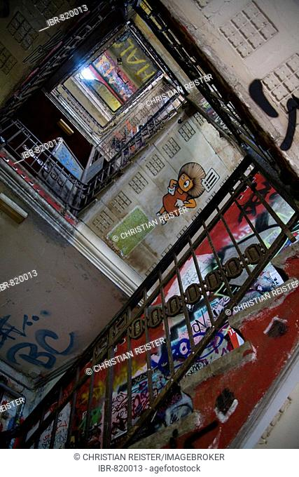 Staircase in the Kunsthaus Tacheles, house for art, Oranienburger Road, Berlin-Mitte, Germany, Europe
