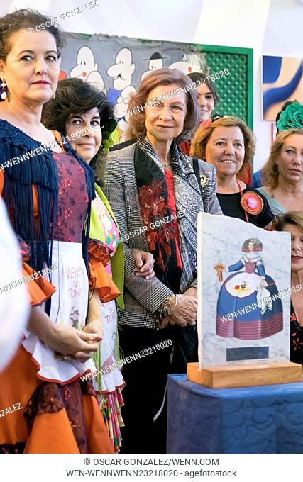 Queen Sofia of Spain attends the New Future jumble sale at the Casa de Campo in Madrid Featuring: Queen Sofia of Spain Where: Madrid