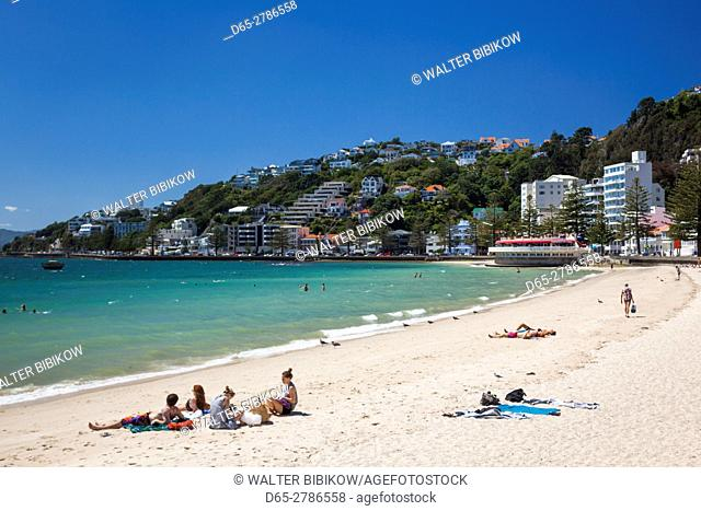 New Zealand, North Island, Wellington, beach, Oriental Bay