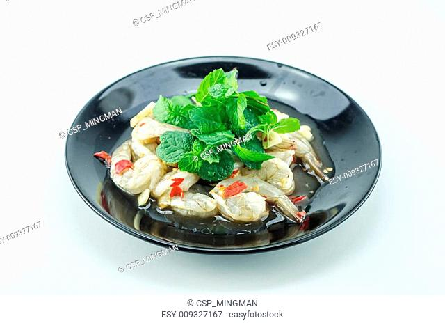 shrimp in fish sauce,hot and spicy