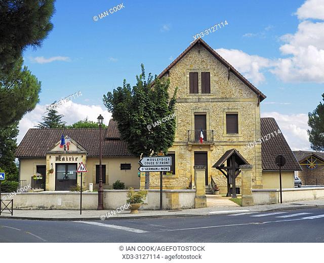 town hall, Cours-de-Pile, Dordogne Department, Nouvelle-Aquitaine, France