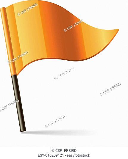 Vector orange flag