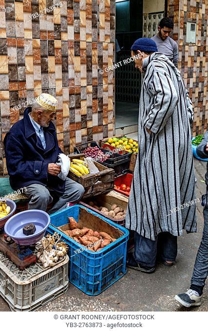 A Street Market In The Medina, Tetouan, Morocco