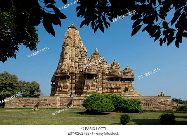 The famous temples of Khajuraho are a large group of medieval hindu and jain temples, famous for ther erotic sculptures. Situated in Madhya Pradesh
