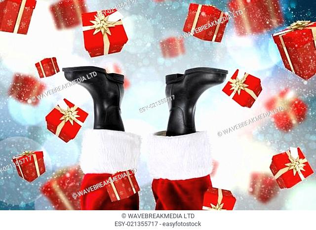 Composite image of santa claus boots