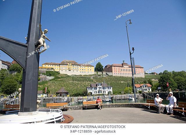 Magische Saeule Magical Column in Meersburg by Peter Lenk, Germany
