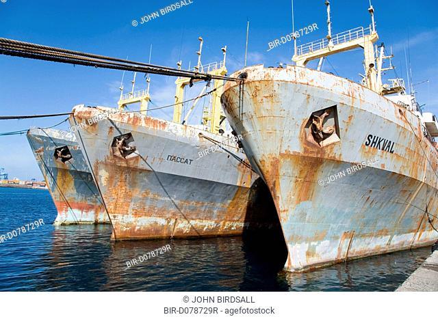 Ships in a dock in Las Palmas, Canaries