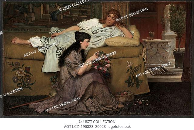 Glaucus and Nydia, 1867. Lawrence Alma-Tadema (British, 1836-1912). Oil on wood panel; framed: 55.5 x 81 x 4.5 cm (21 7/8 x 31 7/8 x 1 3/4 in