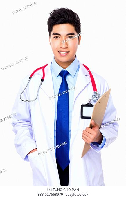 Doctor hold with clipboard