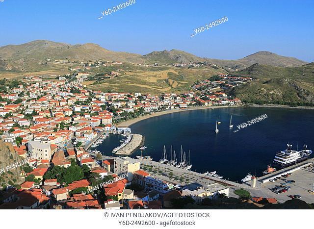 Myrina as Seen from the Castle, Lemnos, Greece