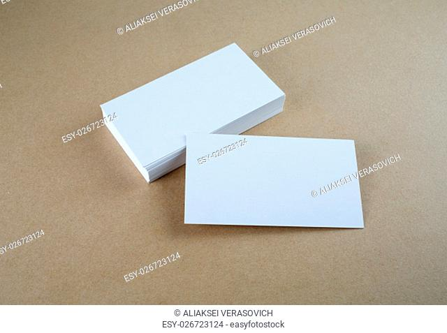 Blank business cards. Mock-up for branding identity