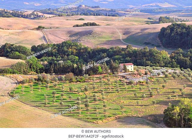 Tuscany landscape near Volterra Italy