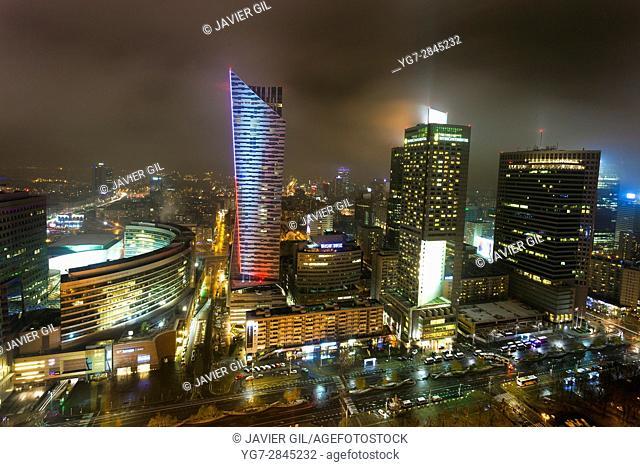 Panoramic of Warsaw, Poland
