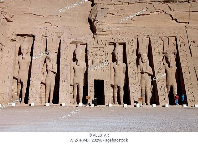 THE SMALL TEMPLE OF HATHOR & NEFERTARI; ABU SIMBEL, NUBIA, EGYPT; 11/01/2013