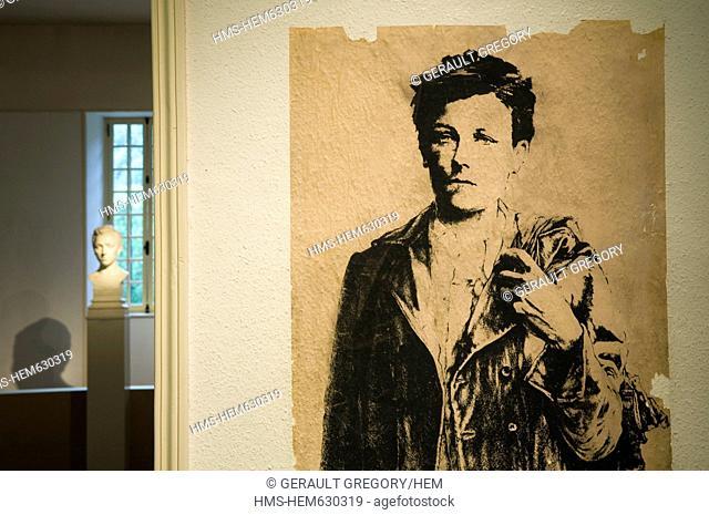 France, Ardennes, Charleville Mezieres, Arthur Rimbaud museum
