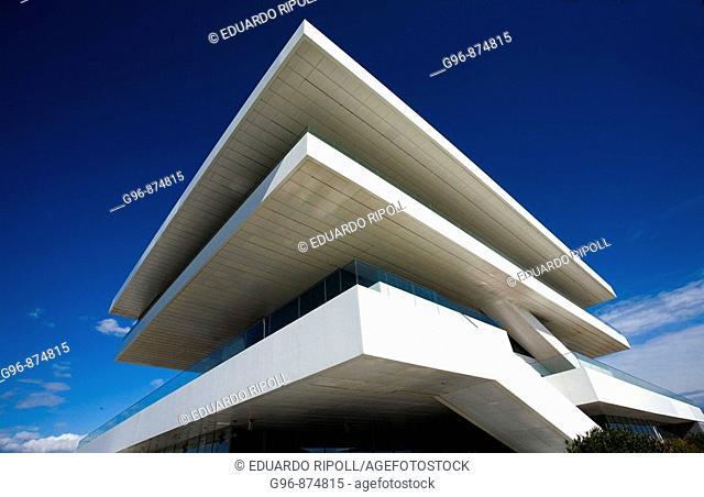 Veles i Vents building (aka Foredeck building) by David Chipperfield, 32nd America's Cup Permanent Pavillion, Valencia. Comunidad Valenciana, Spain