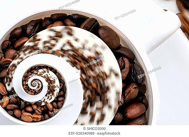 Abstract Caffeine Addiction Droste Effect