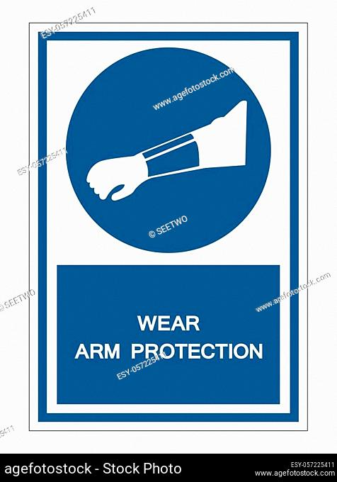 Symbol Wear Arm Protection Sign Isolate On White Background, Vector Illustration EPS. 10