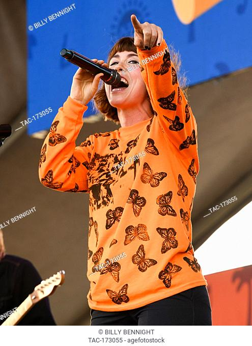 Hannah Hooper of the band Grouplove performs at ALT 98.7 Summer Camp at the Queen Mary in Long Beach on August 3, 2019