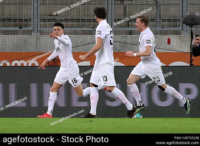 firo: 12.03.021, Fuvuball: Soccer: 1st Bundesliga, season 2020/21 FC Augsburg, FC Augsburg - Borussia Mvšnchengladbach Ruben Vargas, FC Augsburg, FCA, Augsburg