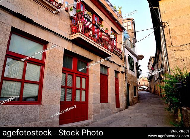 Street in the old town of Allariz, Orense, Spain