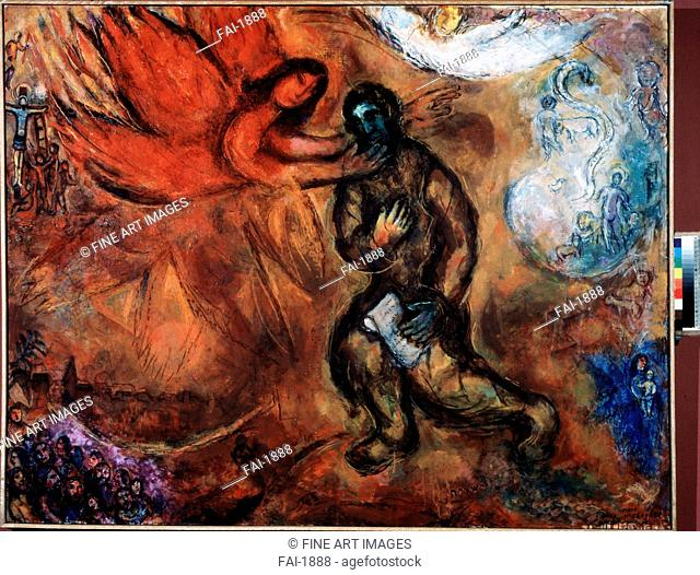 The Prophet Isaiah. Chagall, Marc (1887-1985). Oil on canvas. Modern. 1968. Private Collection. 114x146. Painting. © VG-Bild-Kunst Bonn