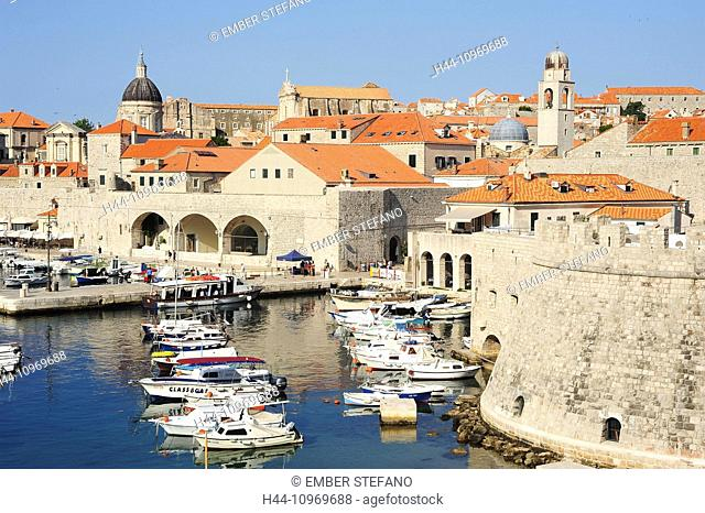 Castle, Adriatic, ancient, architecture, bright, city, cityscape, coast, coastline, Croatia, Balkans, Europe, Dalmatia, Dubrovnik, Europe, famous, fort